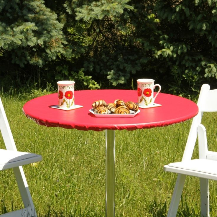 Round Patio Table Vinyl Tablecloth