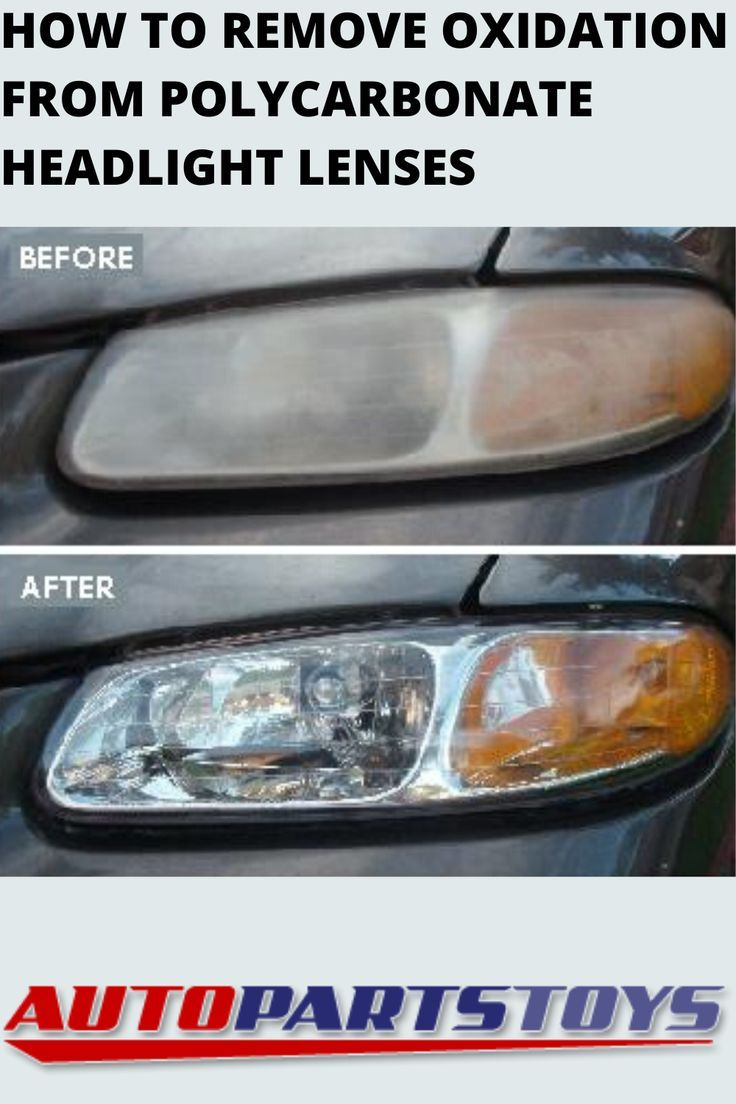 How To Remove Oxidation From Polycarbonate Headlight Lenses In 2020 Headlight Lens Oxidation Polycarbonate
