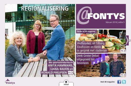 Digitaal Magazine @Fontys, editie 5. #fontys #denkgroter