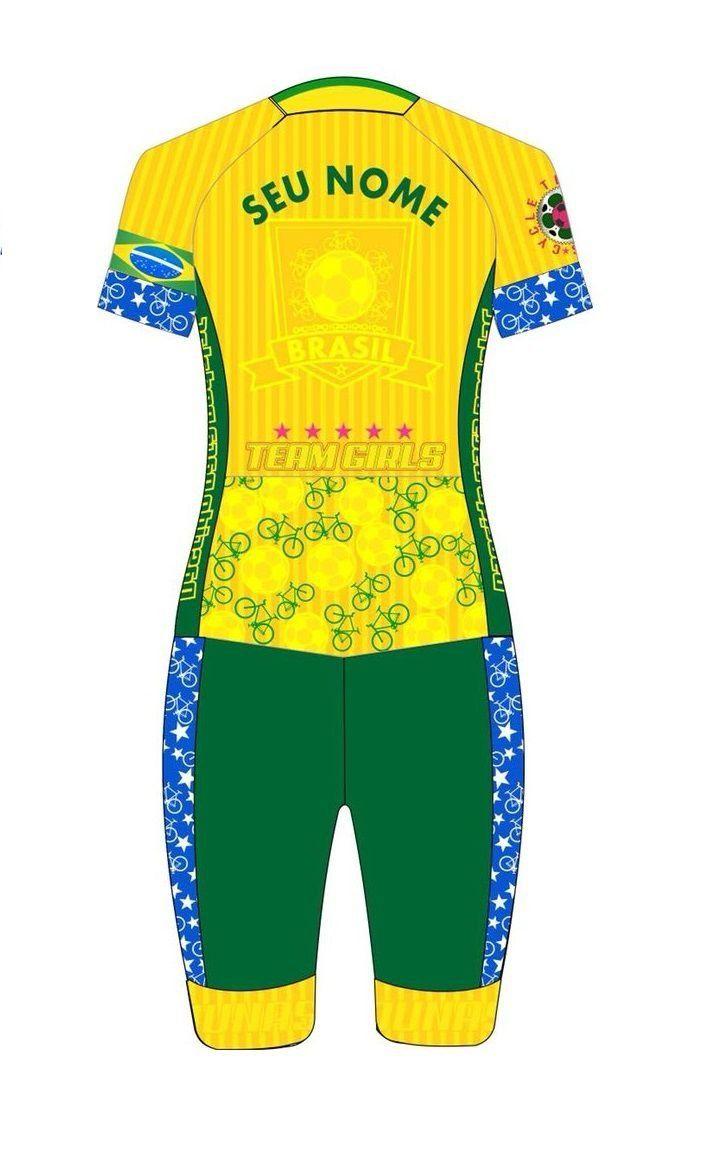 Macaquinho Feminino Personalizado My Name Brasil Dunas Cycling ... 61c05bedbaf