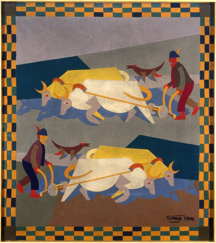 """Fortunato Depero - Doppia aratura, 1926-27 """"La Magnifica Ossessione"""" www.mart.tn.it/magnificaossessione"""