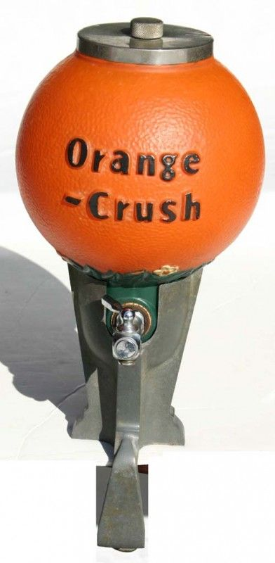 "Classic Soda Foutain Pictures | fine vintage ""Orange Crush"" soda fountain dispenser : Lot 8"