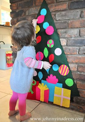 Kid Christmas Tree made out of felt. Super cute.