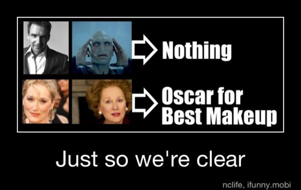 Seriously.: Funnies Pictures, Makeup, Harry Potter, Academy Awards, Funnies Images, Funnies Stuff, We R Clear, True Stories, Meryl Streep