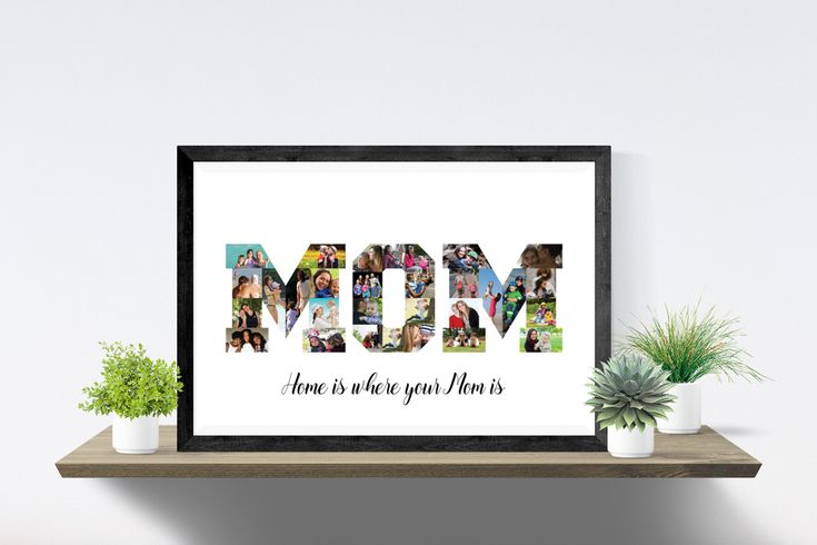 MOM Photo collage, Printable Mothers day gift, MOM birthday collage, Mothers birthday, Gift for mom, PDF.