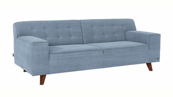 TOM TAILOR 2,5-Sitzer Sofa »NORDIC CHIC« im Retrolook, Füße nussbaumfarben Jetzt bestellen unter: https://moebel.ladendirekt.de/wohnzimmer/sofas/2-und-3-sitzer-sofas/?uid=9fb39880-0482-5488-bd43-3611e1693749&utm_source=pinterest&utm_medium=pin&utm_campaign=boards #sofas #3sitzersofas #wohnzimmer