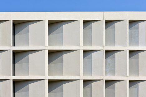 University of Greenwich Stockwell by Heneghan Peng, UK -  limestone facade
