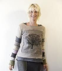 One of a kind sweaters made from up-cycled sweaters.