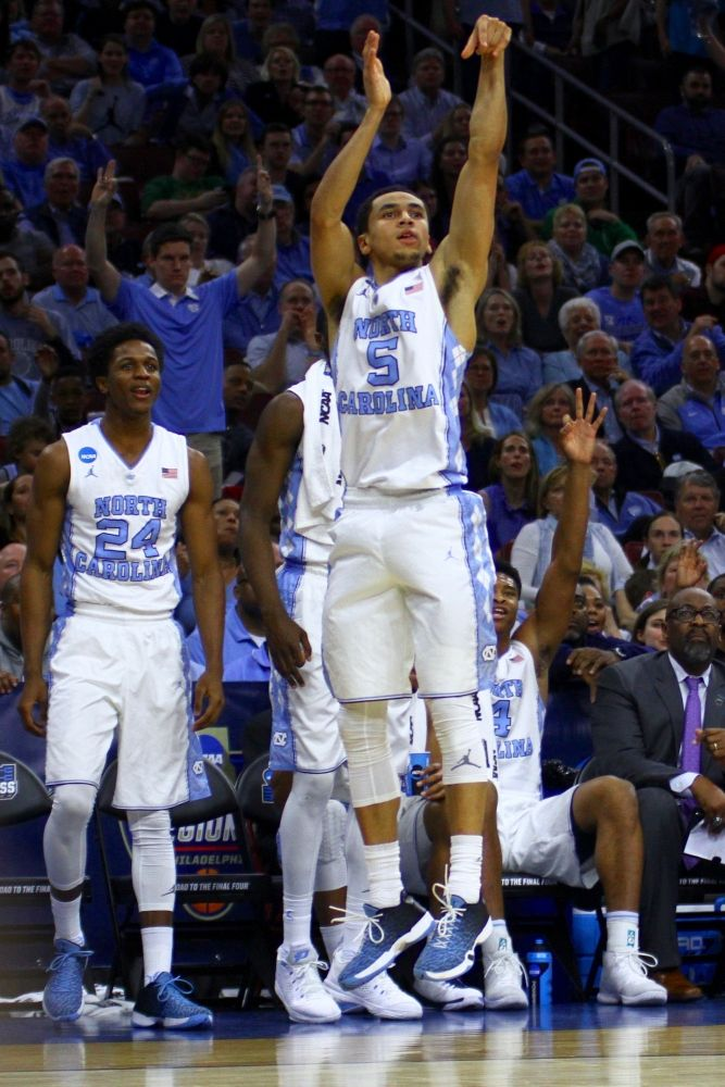 UNC men's basketball tops Indiana in Sweet 16 behind sharp 3-point shooting Read more: http://www.dailytarheel.com/article/2016/03/unc-mens-basketball-tops-indiana-in-sweet-16-behind-sharp-3-point-shooting Quoted from The Daily Tar Heel