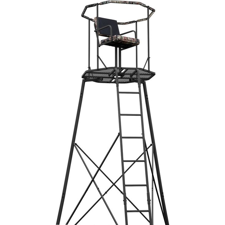 15' Tripod Deer Hunting Tree Stand Shooting Climbing Ladder Blind RealTree Seat in Sporting Goods, Hunting, Blinds & Treestands | eBay