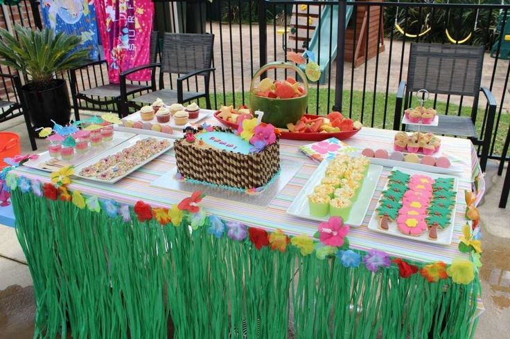 Hawaiian Pool Party Birthday Party Ideas | Photo 1 of 9 | Catch My Party