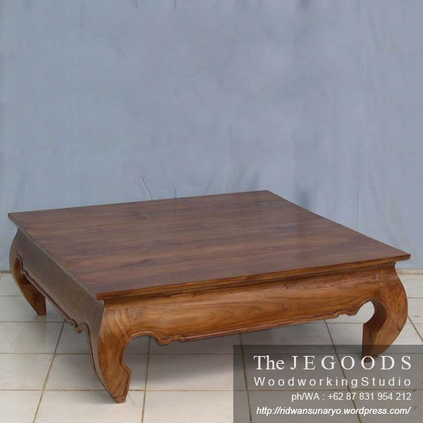 Beautifully Opium Coffee Table made of solid teak Indonesia by the Jegoods Woodworking Studio. A furniture manufacturer at factory prices.