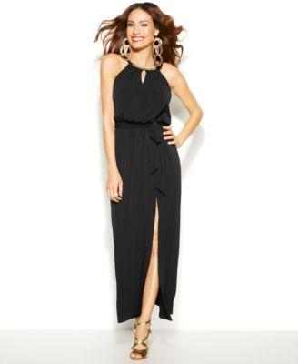 Thalia Sodi Halter-Neck Maxi Dress   macys.com