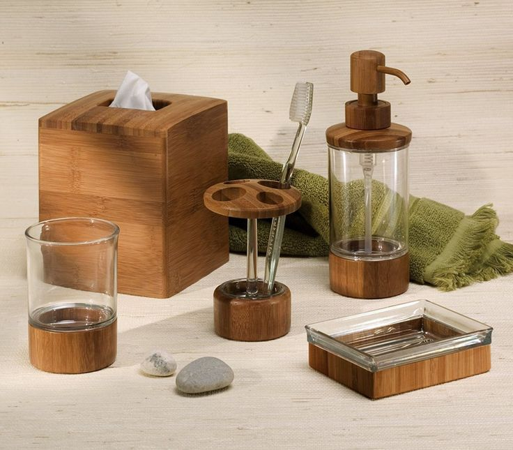bamboo bathroom accessories set luxury design