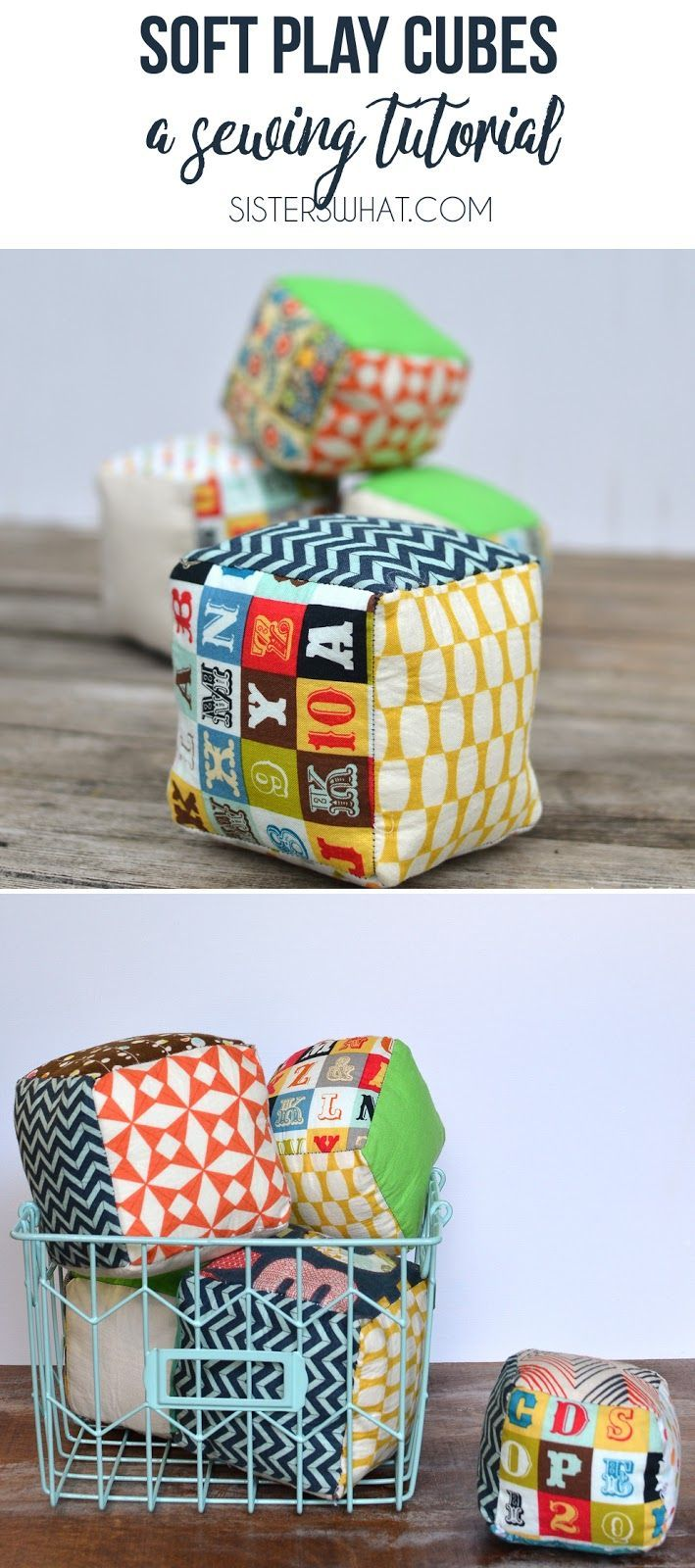 Sewing crafts for children - Soft Play Cubes Tutorial Homemade Toyslittle Childrensewing Toyscraft