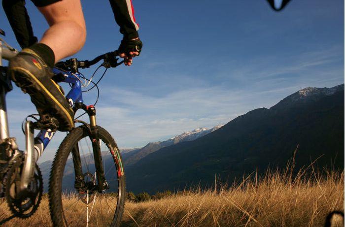 Mountainbiken in traumhafter Umgebung