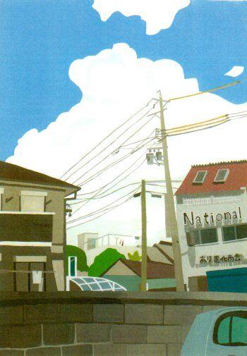 入道雲。真夏、近所で。