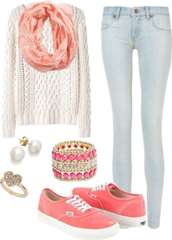 Peachy Tones | Awesome Fall Outfits for Teen Girls for School