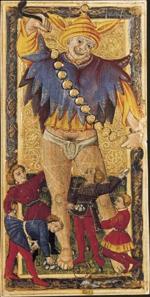 Le Fou, Tarot dit de Charles VI, fin du XVe siècle, Italie du Nord