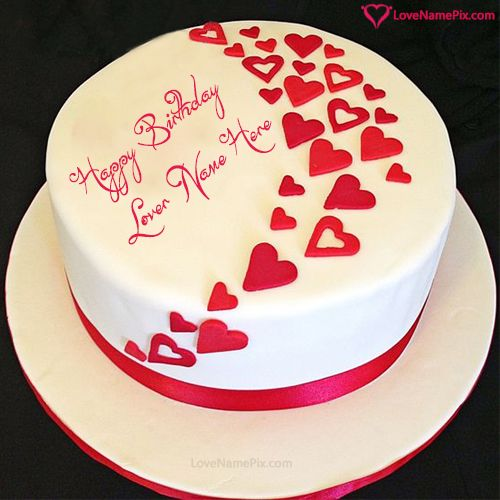 Birthday Wishes Cake For Lovers With Name Photo Happy Birthday