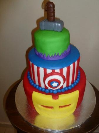 Nice Birthday cake for any Avengers fan!