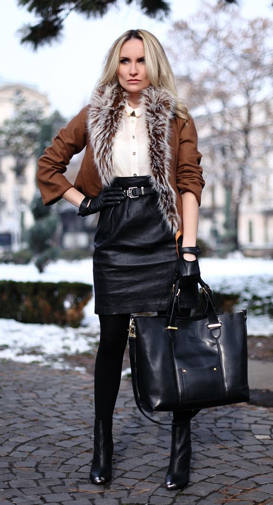 From  Lover Of Gorgeous   Leather skirt in 2019   Pinterest ... 4d83ec80d05