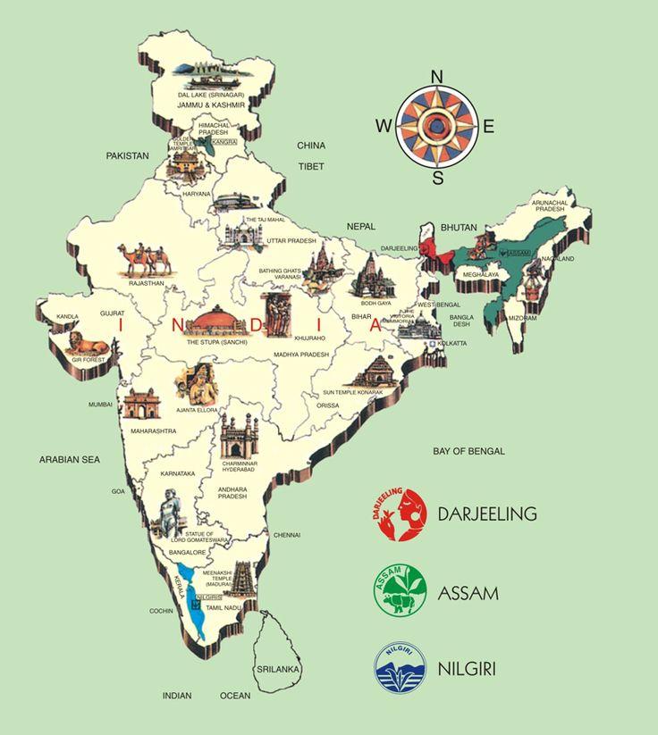 India tea map tea or coffee while on the road