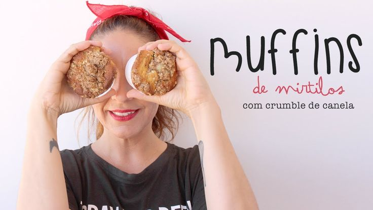 Muffins de Mirtilos com Crumble de Aveia e Canela