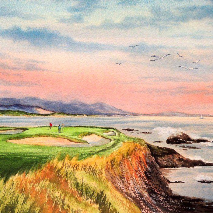 Pin By Lyvie On Matt S B Day In 2020 Beach Golf Golf Courses Pebble Beach