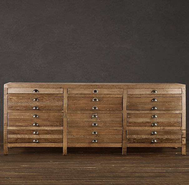 Drawers (other than top) are double-deep