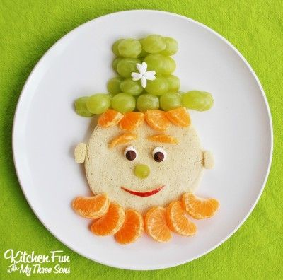 St. Patrick's Day Leprechaun Pancakes - Fun Family Crafts