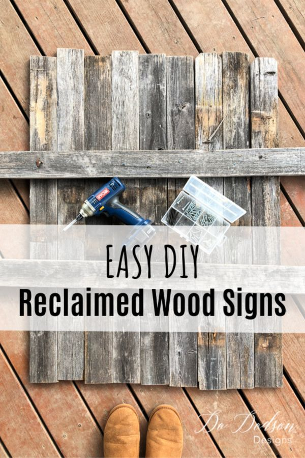How To Make Reclaimed Wood Signs From Scraps With Images Reclaimed Wood Signs Wood Signs Reclaimed Wood
