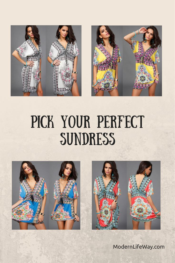 Trendy and sexy floral print, boho style sundress. Variety of sizes and colors. Not available in stores. Get yours before they're gone!