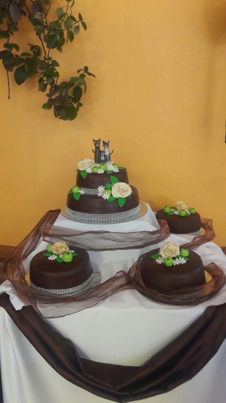 Boda rustica fondant de chocolate