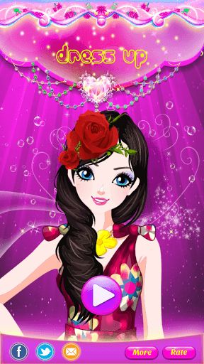 Find your inner fashionista - create new looks and styles for your Cute Barbie Princess DressUp.Design your own princess girl with this dress-up game! It is sure to be a game your kids will love. You get to choose her hair, eyes, skin, dress, jewelry, handbag and more. Choose one magazine cover that you can take a picture for her.** Features ** - Huge variety of fashion items,including dresses, shoes, jewelry, bags and hairstyles. - Help her do her hair, skin, eyes, eyebrows, lip...