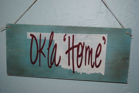 Oklahoma OklaHome Wood Sign by GracefulOfferings on Etsy, $16.99