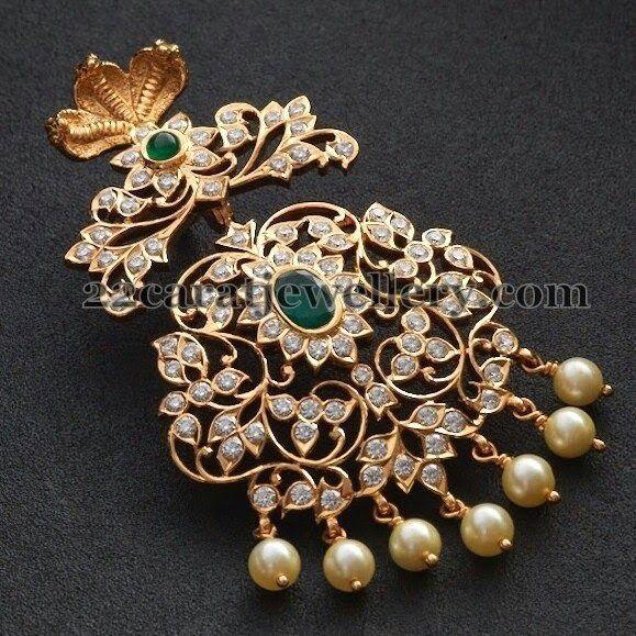 Naga Embellished Diamond Pendant | Jewellery Designs