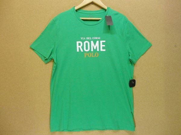 ☆美品 ポロ ラルフローレン POLO RALPH LAUREN CUSTOM FIT 半袖Tシャツ L 緑 Tシャツ_画像1