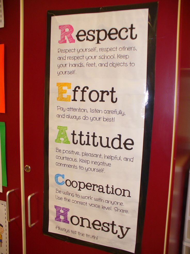 REACH for Success! An acronym to recite with your Whole Brain Teaching rules.