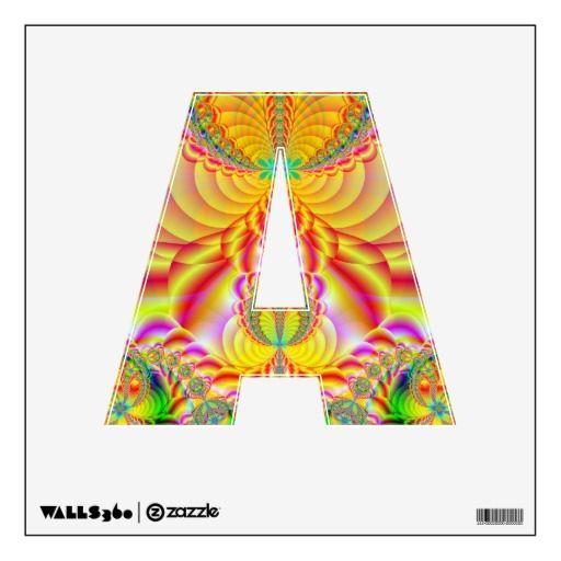 colorful fractal room sticker