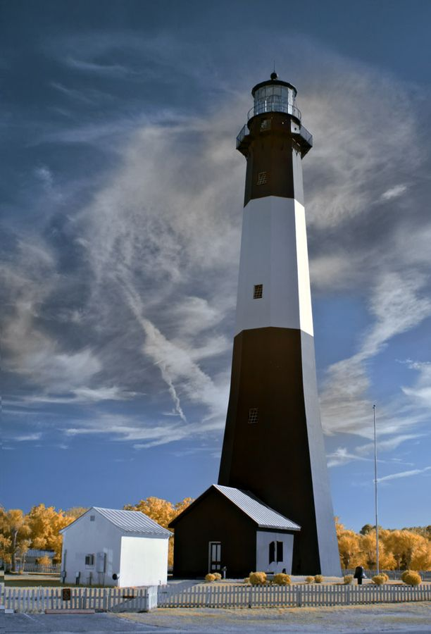 Tybee Island Light in IR by James Hilliard, via 500px