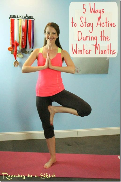 5 Ways to Stay Active During Winter Months   Running in a Skirt Tips to keep moving and how you can get FREE yoga for a month! #justbeflexible #spon www.RunninginaSkirt.com