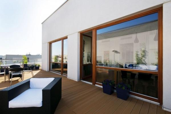 Penthaus Wohnung Deck Rattan-Outdoor Lounge-Set