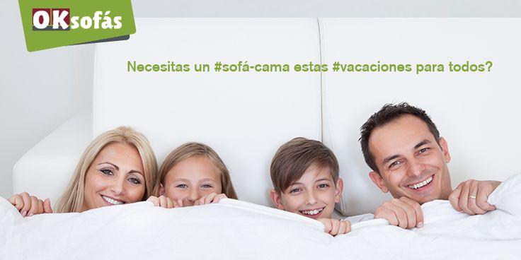 Necesitas un #sofá-cama estas #vacaciones para todos? OK Sofás esta en todo! #sofás-cama que te harán sentir OK!  #sofás #mobiliario #decor