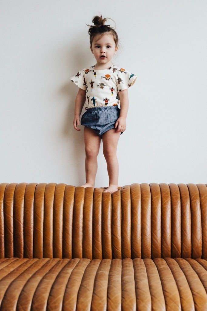 the Bloomers in Chambray – ewmccall  Kids Style| Toddler Fashion| Baby Bloomers| Handmade Kids Clothes| Chambray Bloomers| Girls Summer Style|