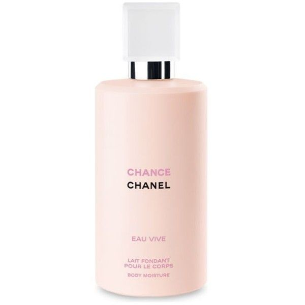 Chanel  Chance Eau Vive Body Moisture ($55) ❤ liked on Polyvore featuring beauty products, bath & body products, body moisturizers, chanel perfume, body moisturizer, body moisturiser and chanel