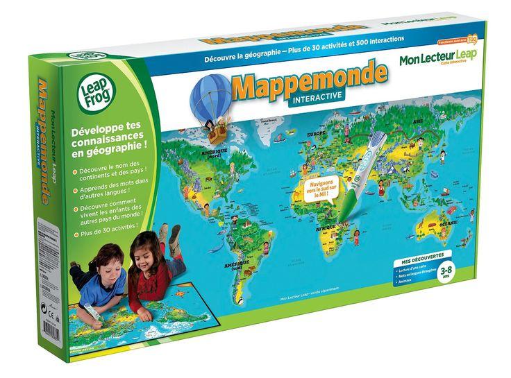13€Leapfrog - 80885 - Jeu Educatif - Carte Mon Lecteur Leap/Tag - Mappemonde Interactive (lecteur non inclus): Amazon.fr: Jeux et Jouets