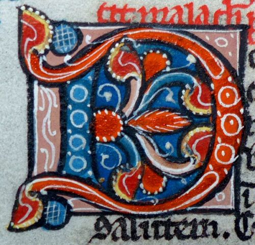 BLATT-BIBEL-HANDSCHRIFT-PERGAMENT-PARIS-FRANKREICH-PERLBIBEL-GOLD-INITIALE-1270