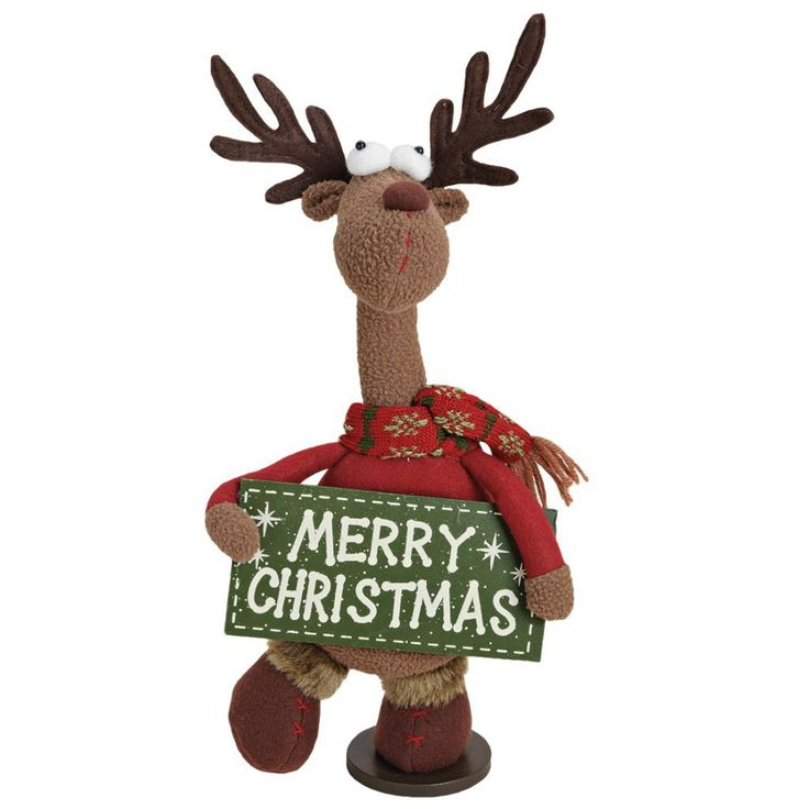 Elch weihnachts deko figur mit schild weihnachten for Weihnachtsideen dekoration