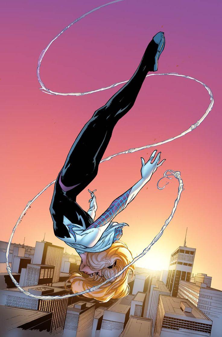 Spider-Gwen by Jerome Opena #SpiderVerse #Spiderman